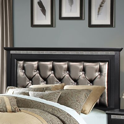 Magnifique upholstered Panel Bed Size: King, Upholstery Color: Ebony