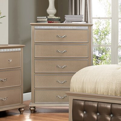 Almerton 5 Drawer Chest by Simmons Casegoods Color: Champagne