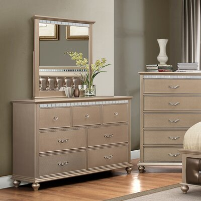 Almerton 7 Drawer Dresser with Mirror