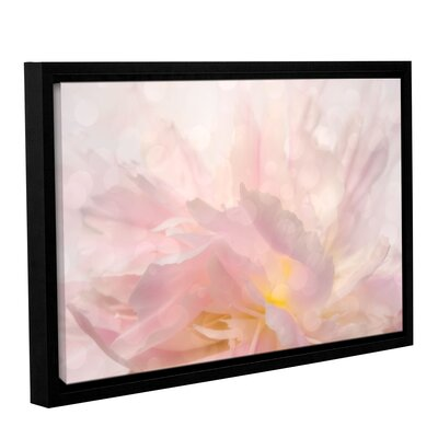 Backlight Peony Framed Graphic Art on Wrapped Canvas