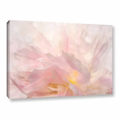 Backlight Peony Graphic Art on Wrapped Canvas