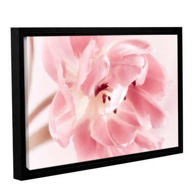 Rosy Pink Tulip IV Framed Graphic Art on Wrapped Canvas Size: 12