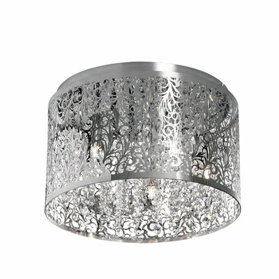 Fauna 5-Light Flush Mount Finish: Polished Chrome