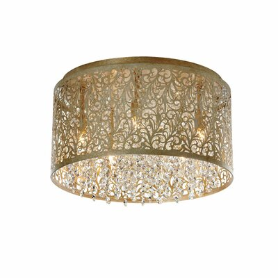 Fauna 5-Light Flush Mount Finish: Palladium Gold