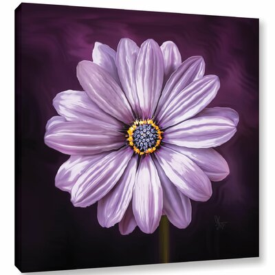 La Fleur De Ce Soir Graphic Art on Wrapped Canvas Size: 10