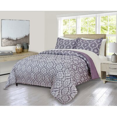 Louth Cartouche Comforter Set Size: King
