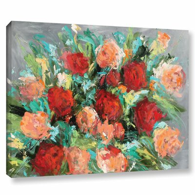 'Roses are Red' by Emma Bell Painting Print on Wrapped Canvas