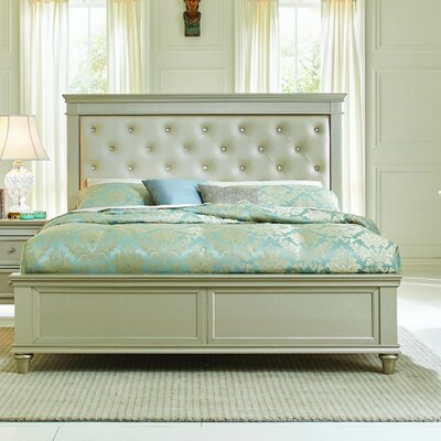 Celine Upholstered Panel Bed Size: California King