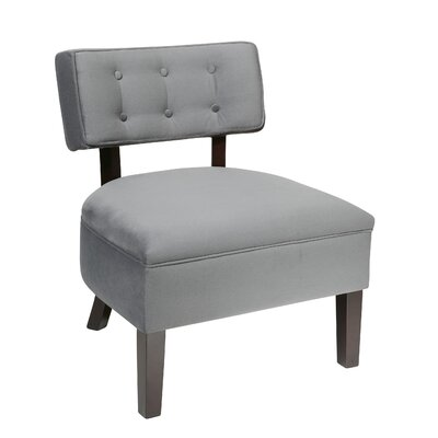 Elvie Slipper Chair Color: Charcoal Velvet
