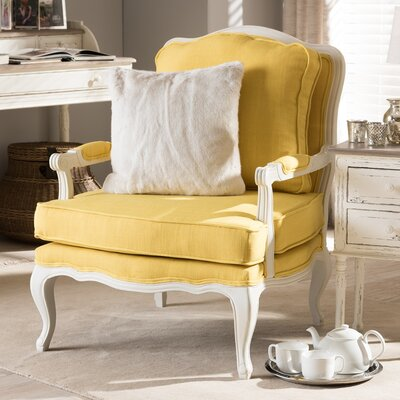 Loughborough Antoinette Arm Chair Upholstery: Yellow