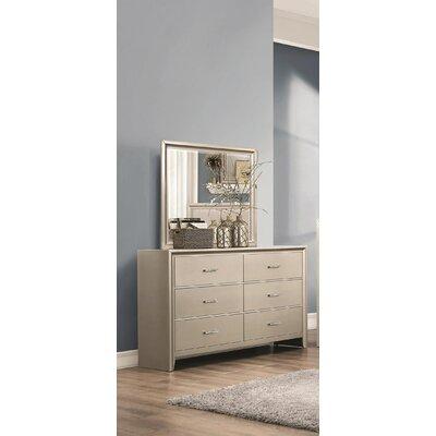Enya 6 Drawer Dresser with Mirror