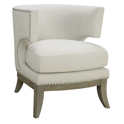 Albiero Barrel Chair Upholstery: White