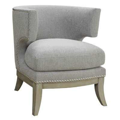 Cliveden Barrel Chair Upholstery: Gray