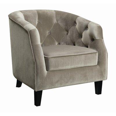 Almaraz Barrel Chair Upholstery: Taupe
