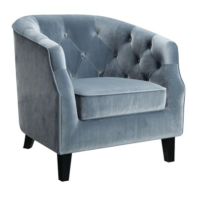 Almaraz Barrel Chair Upholstery: Blue