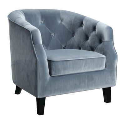 Benning Barrel Chair Upholstery: Blue