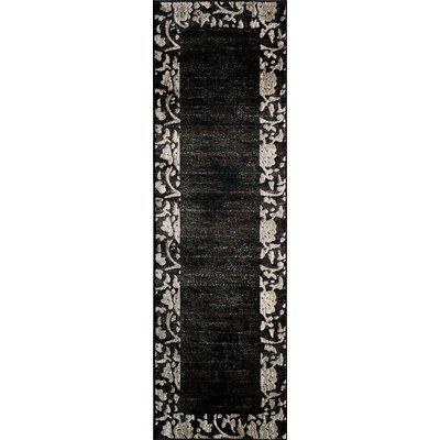 Rochelle Charcoal Area Rug Rug Size: 53 x 76