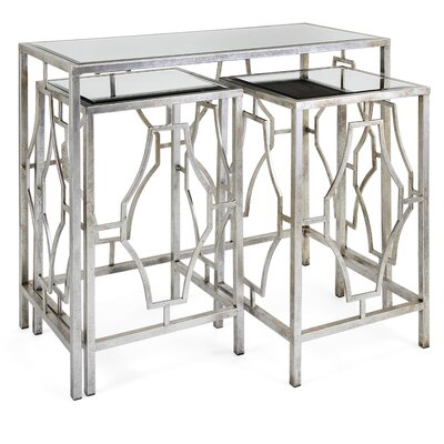 Giustino Mirror 3 Piece Nesting Tables