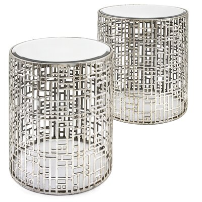 Andrews Mirror 2 Piece End Table Set