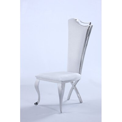 Dereham Parsons Chair (Set of 2) Upholstery: White