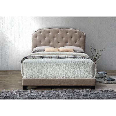 Gerwig Queen Upholstery Platform Bed Upholstery: Brown