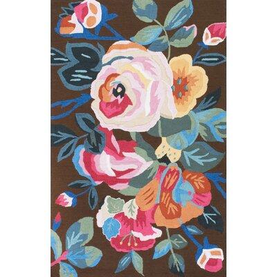 Esher Handmade Pink/Brown Area Rug Rug Size: Rectangle 5 x 8