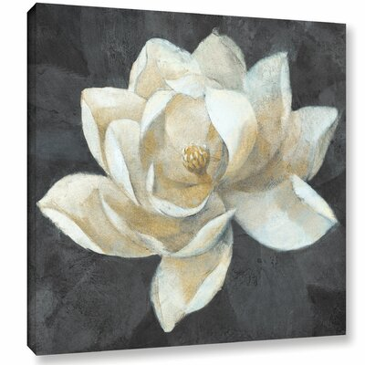 'Majestic Magnolia Neutral Square' by Albena Hristova Painting Print on Wrapped Canvas