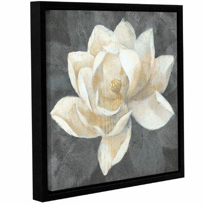 'Majestic Magnolia Neutral Square' by Albena Hristova Framed Painting Print