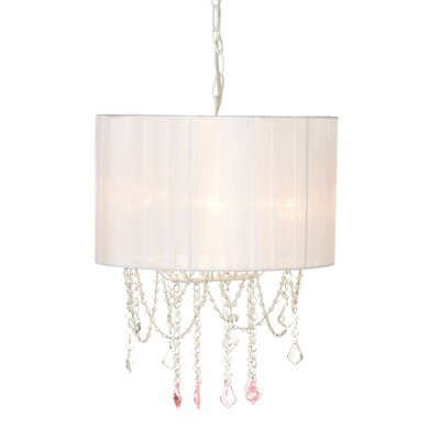Delphos Beaded 1-Light Cluster Pendant