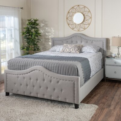 Chandler Queen Upholstered Panel Bed Color: Light Gray