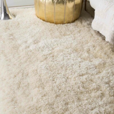 Bathurst Hand-Tufted Ivory Area Rug Rug Size: Rectangle 86 x 116
