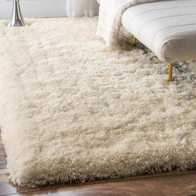Bathurst Hand-Tufted Ivory Area Rug Rug Size: Rectangle 4 x 6