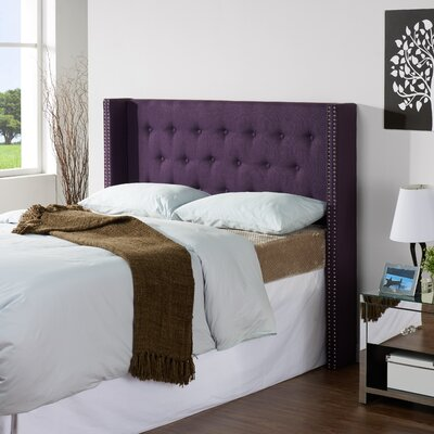 Dowlen Upholstered Wingback Headboard Size: King/California King, Upholstery: Aubergine