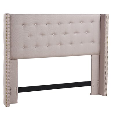 South Woodham Ferrers Upholstered Wingback Headboard Size: King/California King, Upholstery: Mouse