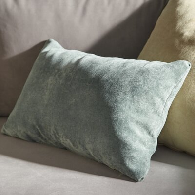 Edwards Velvet Lumbar Pillow Color: Azure