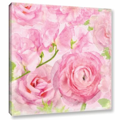 Soft Flowers VI Painting Print on Wrapped Canvas Size: 10