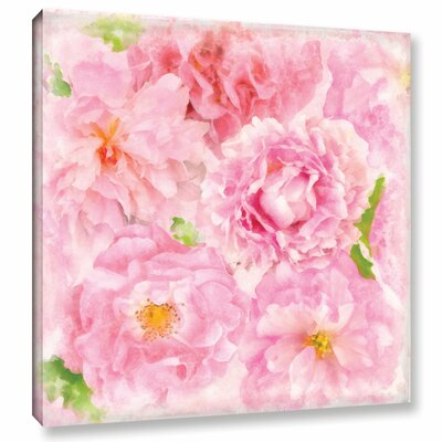 Soft Flowers III Painting Print on Wrapped Canvas Size: 10
