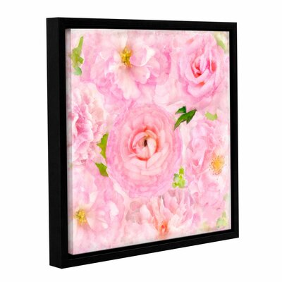 Soft Flowers IV Framed Painting Print Size: 10