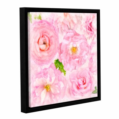 Soft Flowers II Framed Painting Print Size: 10
