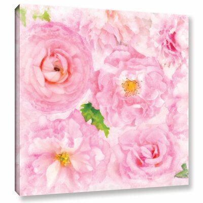 Soft Flowers II Painting Print on Wrapped Canvas Size: 10