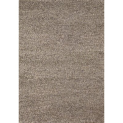 Lorain Hand-Loomed Brown Area Rug Rug Size: 36 x 56