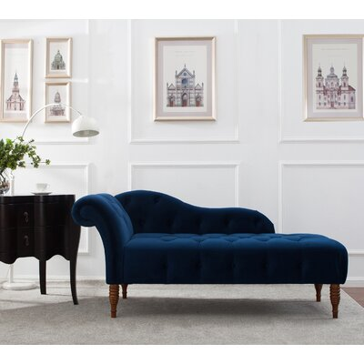 Frome Chaise Lounge Upholstery: Navy Blue