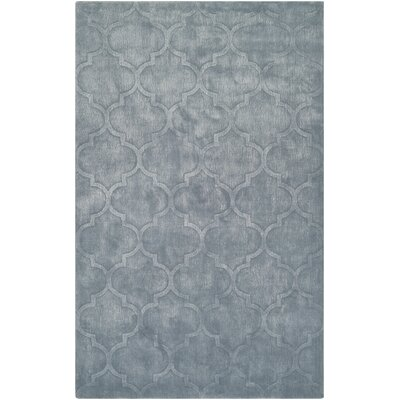 Tarquin Hand-Loomed Ice Blue Area Rug Rug Size: Rectangle 9 x 12