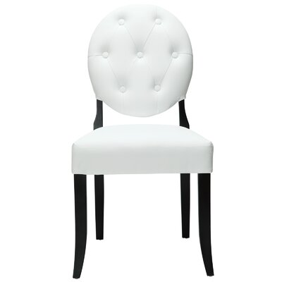 Courtnay Upholstered Dining Chair Upholstery Color: White