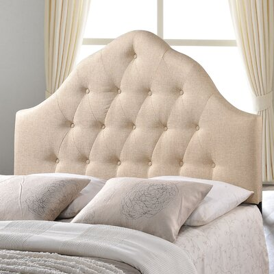 Joao Upholstered Panel Headboard Size: Twin, Upholstery: Beige