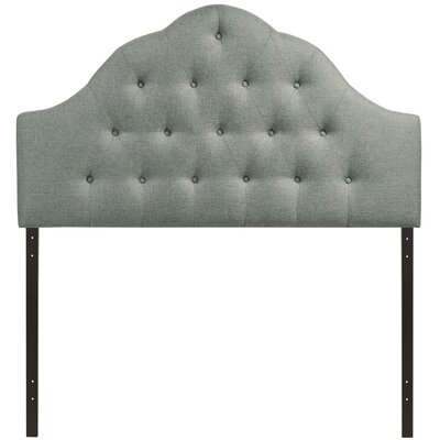 Joao Upholstered Panel Headboard Size: Twin, Upholstery: Gray