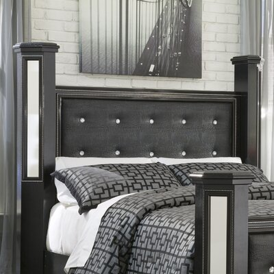 Aquilae Contemporary Wood Upholstered Panel Headboard Size: Queen