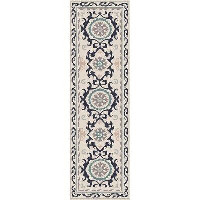 Virginia Light Gray/Multi Ikat/Suzani Rug Rug Size: Runner 26 x 8