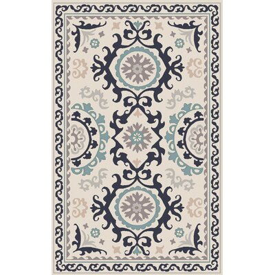 Virginia Light Gray/Multi Ikat/Suzani Rug Rug Size: 36 x 56