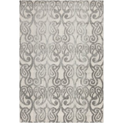 Vivienne Charcoal/Gray Area Rug Rug Size: Rectangle 52 x 76